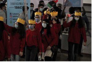 an all-girls group from Lybotics attend a robotics event