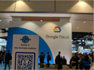 DoctorX nametag at Google Cloud conference